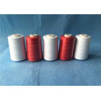 Quality Wear Resistant Polyester Core Spun Yarn 402 Count With Dyeable Pattern , Red Color for sale