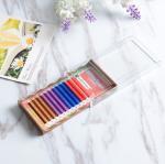 Quality Mixed 4 Colors Full Set Eyelash Extensions , Individual Fake Eyelashes Hand Made for sale