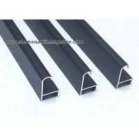 Quality Curved Matt Black Aluminium Picture Frames With Brushed Effect for sale