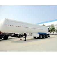 Quality 58CBM 50 Tons Aluminum Semi Trailer Trucks Stainless Steel For Lpg Transport for sale