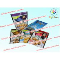 Quality Soft Plastic Printed Laminated Pouch Packaging , Cookie Reclosable Packaging Bag for sale