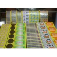 Quality Greaseproof Food Label Stickers , Adhesive Food Labels For Fruits / Vegetables for sale