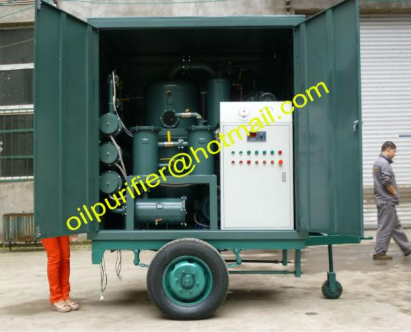 Buy Mobile Transformer Oil Purifier Plant with Single Axle Trailer,Movable Insulation Oil Processing equipment at wholesale prices