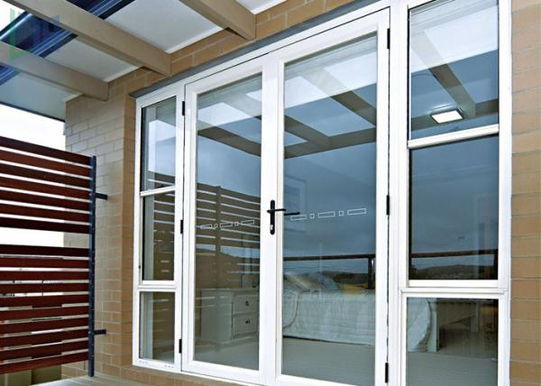 Buy Arched Decorative Glass Entrance Doors Sound Insulation For Commercial Building at wholesale prices