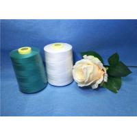 Quality Plastic Cone Dyed Polyester Industrial Sewing Thread For Textile / Garment for sale