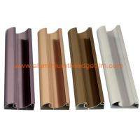 Quality C Shaped Aluminium Cabinet Door Profiles Lightweight For Crystal Steel Shutter for sale