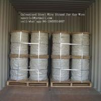 Buy cheap Hot Dipped Galvanized Steel Cable Strand For Overhead Electrical Wire from wholesalers
