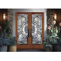 Buy cheap removable  Theft Proof Decorative Panel Glass Brass / Nickel / Patina  clear  Stained Glass from wholesalers
