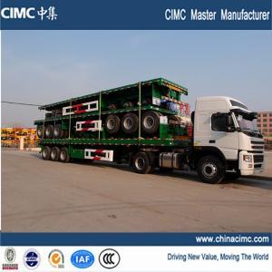 China flatbed trailer , sinotruk 12 wheeler tri axle flatbed truck trailer on sale