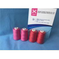 Quality 100% Polyester Staple Fiber Sewing​ TFO Yarn , Dyed Ring Polyester Core Spun Thread for sale
