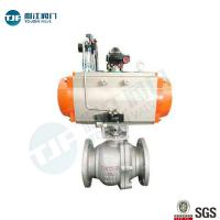 Buy cheap DIN 3357 WCB Industrial Ball Valve With Single Acting Penumatic Actuator from wholesalers