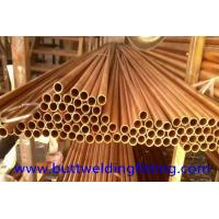Quality CuNi90/10 Copper Nickel Tube / Straight Copper pipe CuNi 90/10 6 - 12m Length for sale