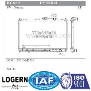 Quality Santmo 97 Hyundai Car Radiator Good Temperature Control OEM 25310-M2510 for sale