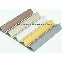 Quality Durable Anodized Brushed Aluminium Corner Protectors For Walls 1.5mm Thickness for sale