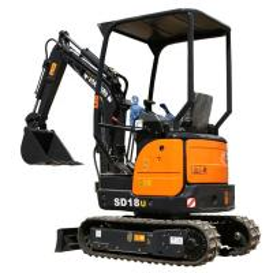 Quality CARTER 1800kg Hydraulic Mini Excavator / SD18U Digger Construction Equipment Excavator for sale