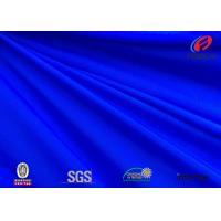 Quality Anti - microbial blue colour polyester spandex fabric for swimwear for sale
