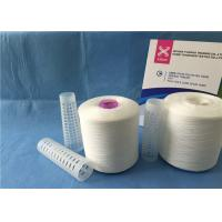 Quality High Tenacity Z/S Twist Raw White Yarn 100% Polyester Sewing Thread for sale