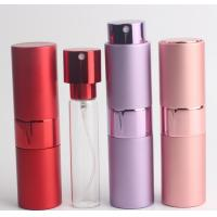 Quality Cylinder Shape Travel Perfume Atomiser 5ml Aluminum  With Pump Sprayer for sale