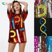 Quality Oversize Womens Glitter Clothes / Women Sequin Party Dresses Hip Pop Style for sale