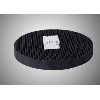 Quality Gas Purification Honeycomb Activated Charcoal , 165 X20mm Round Activated Carbon for sale