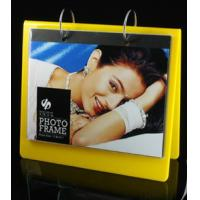 Quality calender style acrylic block photo frame yellow for sale