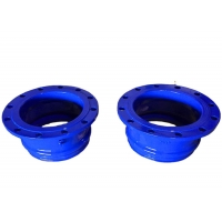 Buy cheap EN 12842 Epoxy Coated 0.6Mpa Ductile Iron Fittings For Upvc PE Pipes from wholesalers