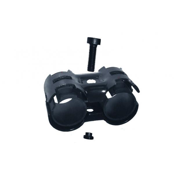 Buy Light Industrial Flexible Pipe Connectors Parallel Black SPCC Steel Pipe Joint at wholesale prices