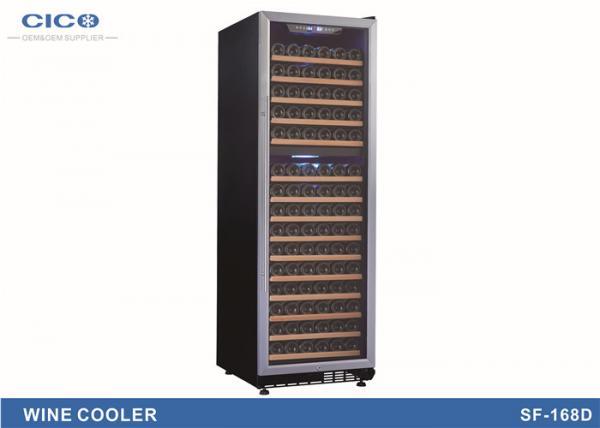 Buy Slim Narrow Compressor Wine Cooler / Dual Temperature Wine Fridge at wholesale prices