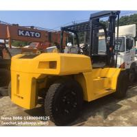 Buy cheap used diesel 2012 model 15ton komatsu forklift truck FD150E-7 low work hrs widely from wholesalers