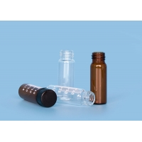 Quality Clear  amber Polypropylene XHPHAPACK 4cc Glass Screw Top Vials for sale