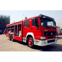 Quality Sinotruk ZZ1166SSMC46100 Fire Fighting Vehicles 4600mm wheelbase Red Flame On Road 6X4 / 4X2 for sale