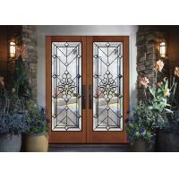 Buy cheap Strength Elegance Comfort Pattern Decorative Panel Glass With Black Chrome from wholesalers