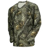 Quality Wicking Long Sleeve Camouflage Hunting Suit Camo Fishing T Shirt 100% Poly Knit Grid for sale