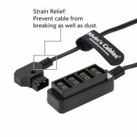 Quality Alvin's Cables D Tap Male to 4 Port Dtap Female Splitter Power Cable for ARRI RED Cameras TILTA Steadicam IDX Battery for sale