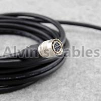 Quality Power I/O Cat6 M12 Cable Assembly HRS 12 Pin Hirose Female Open Twisted For Basler Camera GigE 3m for sale