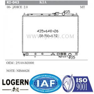 Quality Joice 2.0'00-02 KIA Radiator / Car Cooling Radiator OEM 25310-M3000 for sale