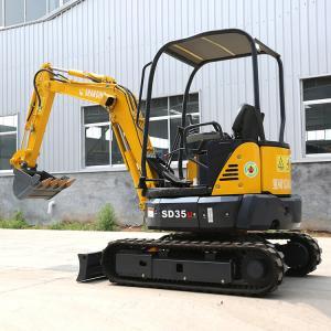 Quality SD35U Hydraulic Crawler Excavator / Yellow Diesel Engine Mini Diggers for sale