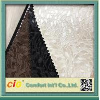 Quality PVC Vinyl Embossing Synthetic Leather Upholstery Fabric for Furniture / Bag / Garment for sale