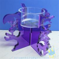 Quality CH (19) Acrylic goblet candle holder for sale