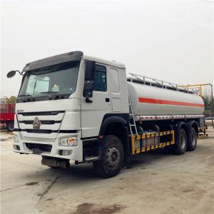 Quality SINOTRUK HOWO 20CBM 25CBM Liquid Tanker Truck , Refueling Oil Tanker Truck for sale