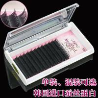 Quality Professional Semi Permanent Eyelash Extensions , Salon Individual Eyelashes B Curl Lashes for sale
