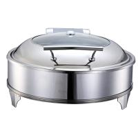 Quality Catering Buffet Stainless Steel Round Hydraulic Cheap Chafing Dish 1802E for sale