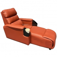 Quality Luxury Genuine Leather Chair Home Cinema Seats VIP Sofa With Inclined Cup Holder for sale