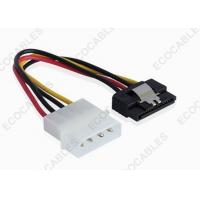 Quality 15 Pin To 4 Pin SATA Power Extension Cables With Straight Latch For SATA HDD RoHS Compliant for sale