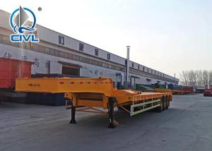 Quality Q235 Steel 3 Axles Oil Tanker Truck Equipment Low Bed Trailer With Fuwa for sale