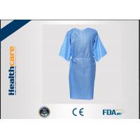 Quality Multifunction 16-80G Disposable Isolation Gowns Ultrasonic Heat Seal Blue/Yellow Coats for sale
