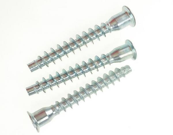 Buy Hex Socket Steel Blue Zinc Wooden Furniture Confirmat Screws Flat Point  M5 to M7 at wholesale prices