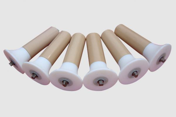 Buy Low Noise Low Friction Conveyor Belt Rollers Self Aligning Nylon And UHMW-PE Material at wholesale prices