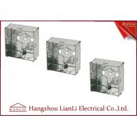 China 75MM*75MM Steel Electrical Gang Box 20m 25mm Holes With Brass Terminal on sale