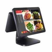 Quality Dual Screen Pos Computer System 35W Power Consumption With Card Reader for sale